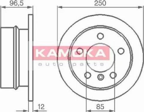 Kamoka 103454 - Bremžu diski interparts.lv