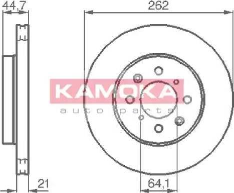 Kamoka 1035518 - Bremžu diski interparts.lv