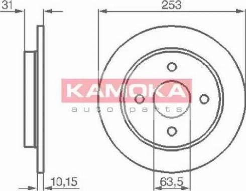 Kamoka 103562 - Bremžu diski interparts.lv