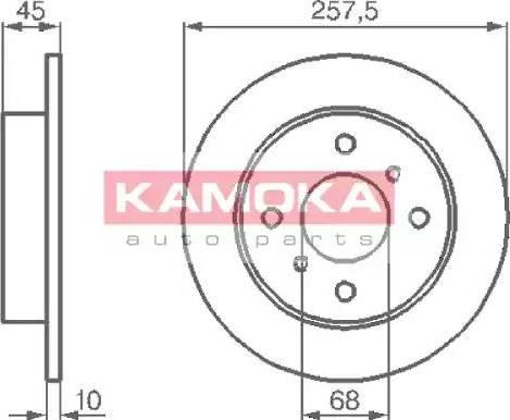 Kamoka 103534 - Bremžu diski interparts.lv