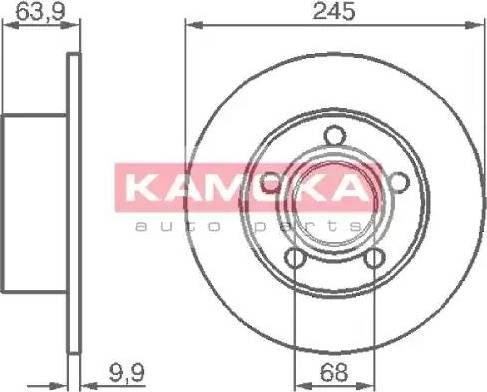 Kamoka 103642 - Bremžu diski interparts.lv