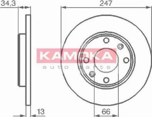 Kamoka 1031990 - Bremžu diski interparts.lv