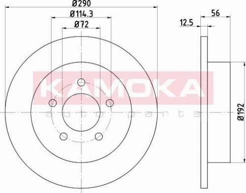 Kamoka 103199 - Bremžu diski interparts.lv