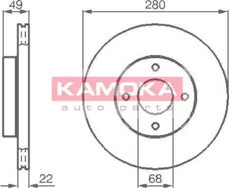 Kamoka 1031918 - Bremžu diski interparts.lv
