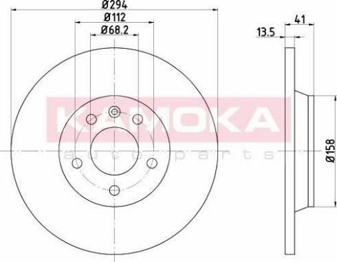 Kamoka 103198 - Bremžu diski interparts.lv