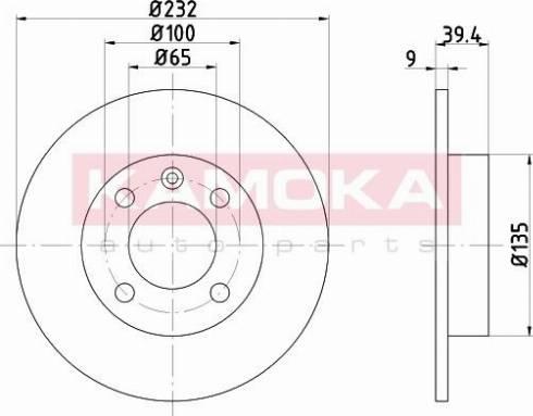 Kamoka 103146 - Bremžu diski interparts.lv