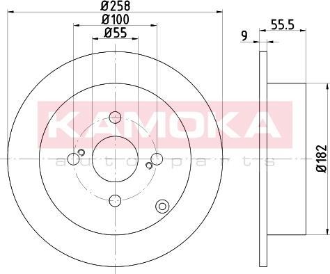 Kamoka 103148 - Bremžu diski interparts.lv