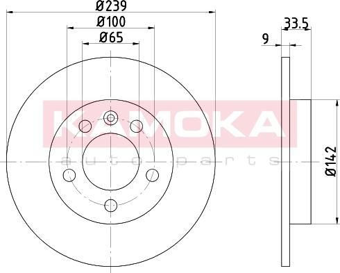 Kamoka 103147 - Bremžu diski interparts.lv