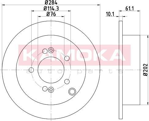 Kamoka 103159 - Bremžu diski interparts.lv