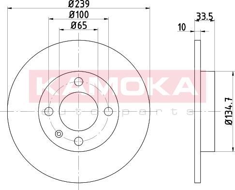 Kamoka 103156 - Bremžu diski interparts.lv