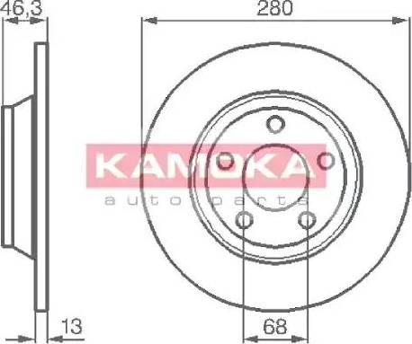 Kamoka 1031518 - Bremžu diski interparts.lv
