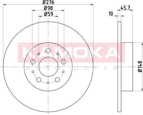 Kamoka 103158 - Bremžu diski interparts.lv