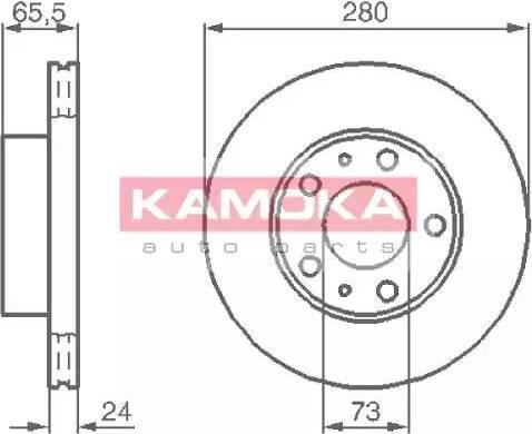 Kamoka 1031534 - Bremžu diski interparts.lv