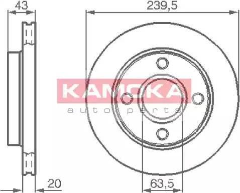 Kamoka 1031532 - Bremžu diski interparts.lv