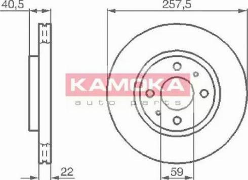 Kamoka 1031524 - Bremžu diski interparts.lv
