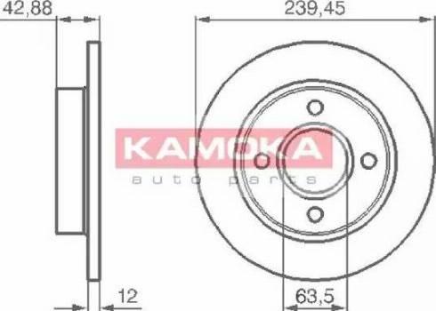 Kamoka 1031690 - Bremžu diski interparts.lv