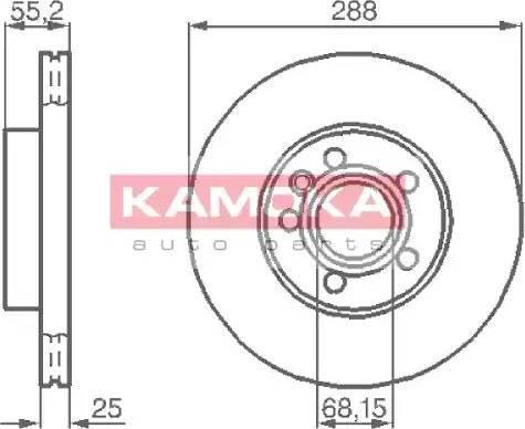 Kamoka 1031691 - Bremžu diski interparts.lv
