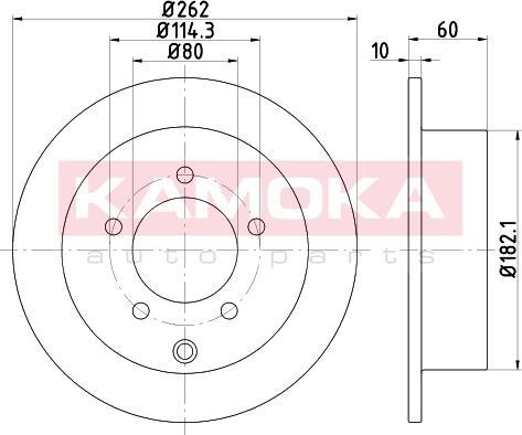 Kamoka 103169 - Bremžu diski interparts.lv