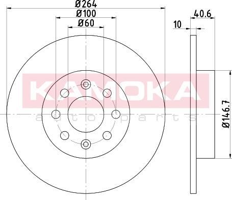 Kamoka 103164 - Bremžu diski interparts.lv