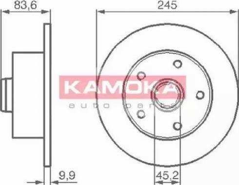 Kamoka 1031660 - Bremžu diski interparts.lv