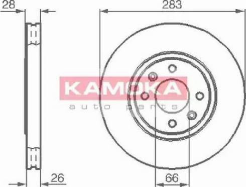 Kamoka 1031682 - Bremžu diski interparts.lv