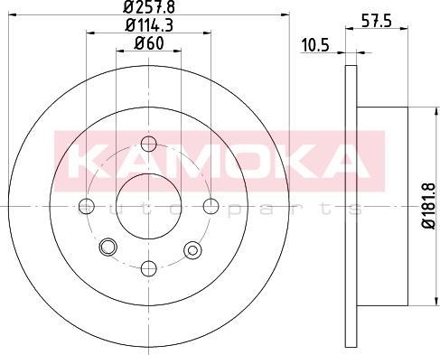 Kamoka 103168 - Bremžu diski interparts.lv