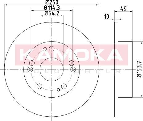 Kamoka 103163 - Bremžu diski interparts.lv