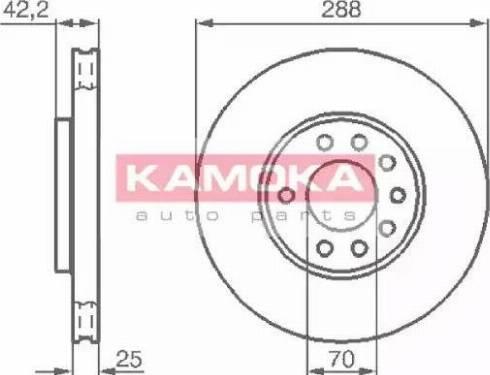 Kamoka 1031620 - Bremžu diski interparts.lv
