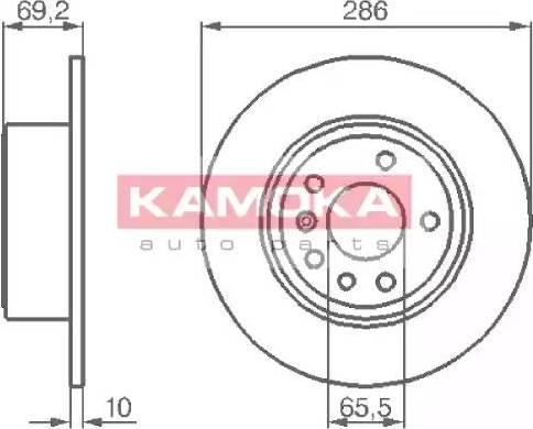 Kamoka 1031622 - Bremžu diski interparts.lv