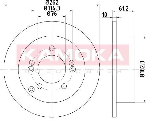 Kamoka 103162 - Bremžu diski interparts.lv