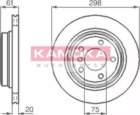 Kamoka 1031672 - Bremžu diski interparts.lv