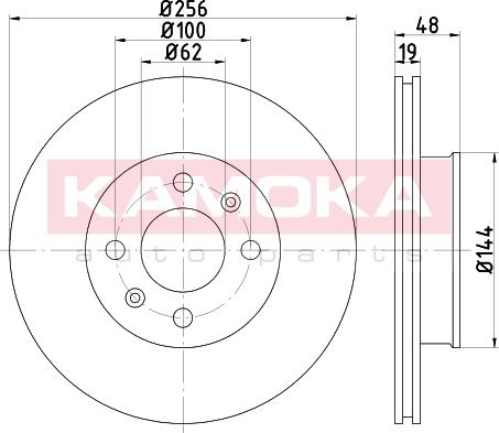 Kamoka 1031094 - Bremžu diski interparts.lv