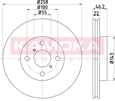 Kamoka 1031095 - Bremžu diski interparts.lv