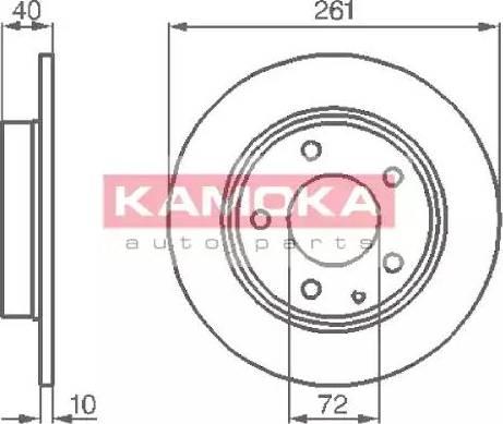 Kamoka 1031048 - Bremžu diski interparts.lv