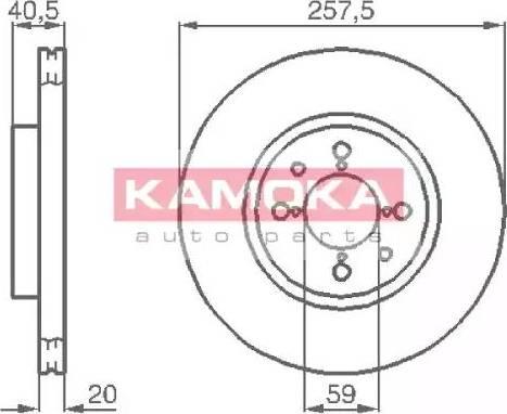 Kamoka 1031042 - Bremžu diski interparts.lv