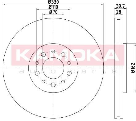 Kamoka 1031057 - Bremžu diski interparts.lv