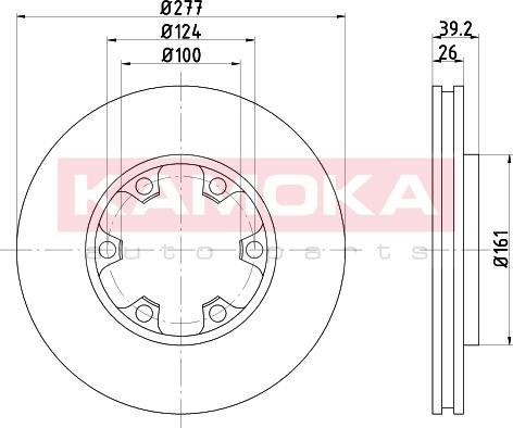 Kamoka 1031084 - Bremžu diski interparts.lv