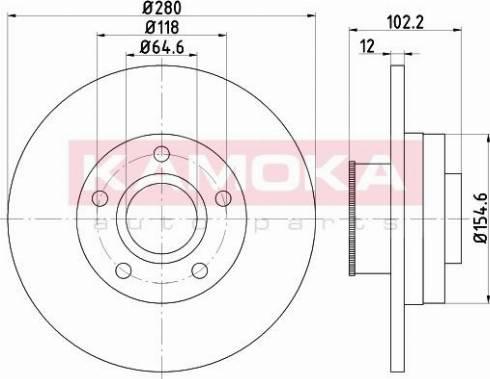 Kamoka 1031039 - Bremžu diski interparts.lv