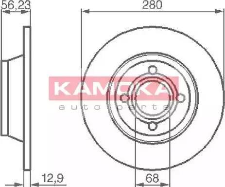 Kamoka 1031036 - Bremžu diski interparts.lv