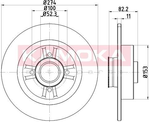 Kamoka 1031025 - Bremžu diski interparts.lv