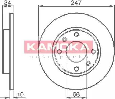 Kamoka 103118 - Bremžu diski interparts.lv