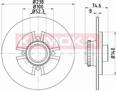 Kamoka 1031139 - Bremžu diski interparts.lv