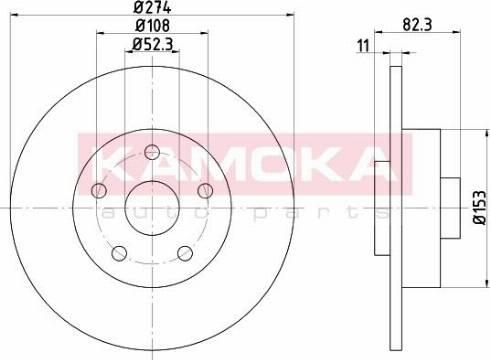 Kamoka 1031133 - Bremžu diski interparts.lv