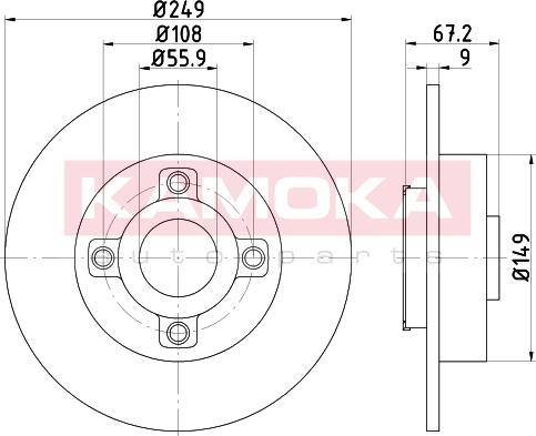 Kamoka 1031137 - Bremžu diski interparts.lv