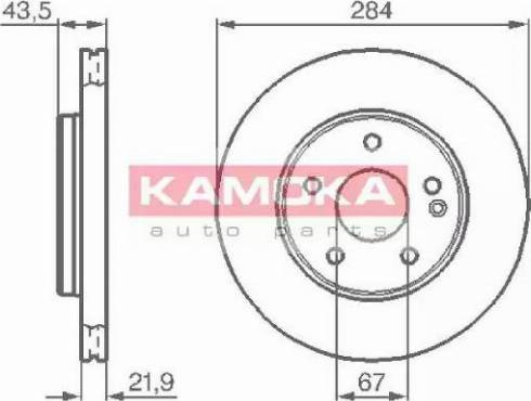 Kamoka 1031176 - Bremžu diski interparts.lv