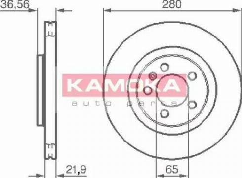 Kamoka 1031856 - Bremžu diski interparts.lv