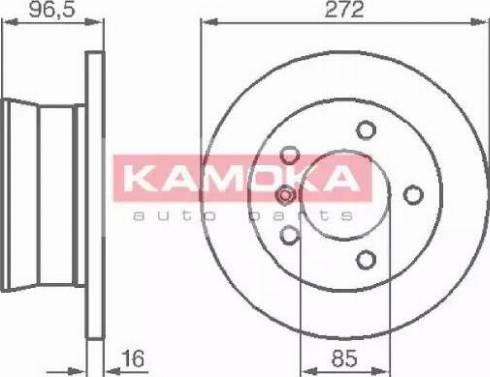 Kamoka 1031864 - Bremžu diski interparts.lv