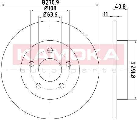 Kamoka 103183 - Bremžu diski interparts.lv