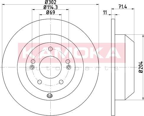 Kamoka 103182 - Bremžu diski interparts.lv
