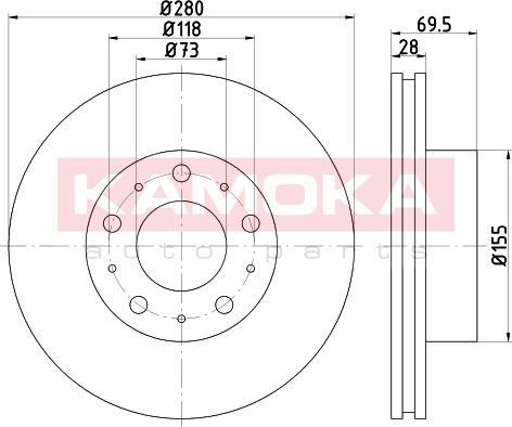 Kamoka 103139 - Bremžu diski interparts.lv